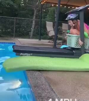 Pool treadmill tricks