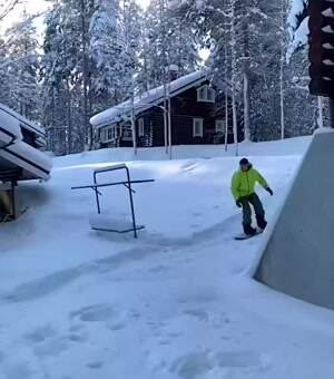 some awesome snowboarding skills