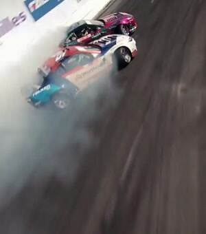 awesome drone footage of drifting race cars