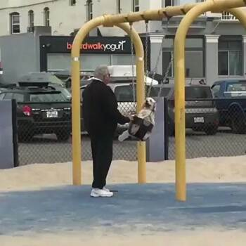 Just swinging my dog