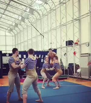 Circus team with some major skills