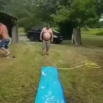 The most epic slip and slide