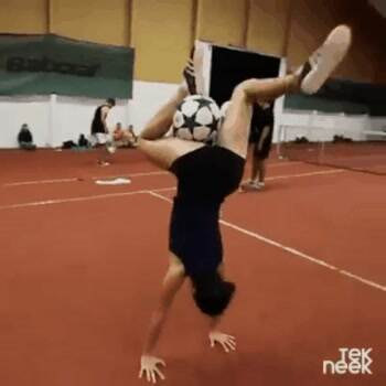 The Soccer acrobat