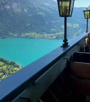 view from restaurant in switzerland