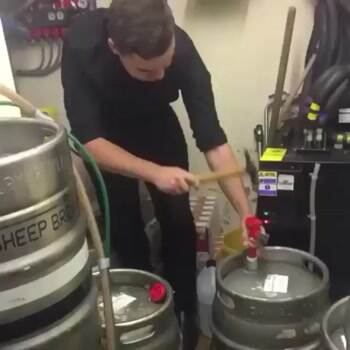How not to open a keg