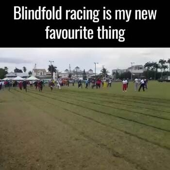 Blindfolded racing is my new favorite thing
