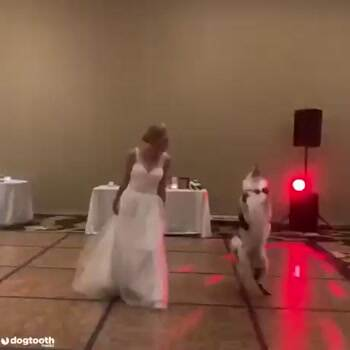 Dancing with her best friend on her wedding day