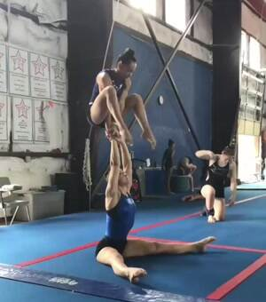 Gymnasts are strong