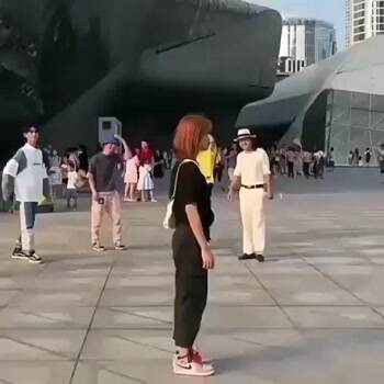 Showing off how to moonwalk