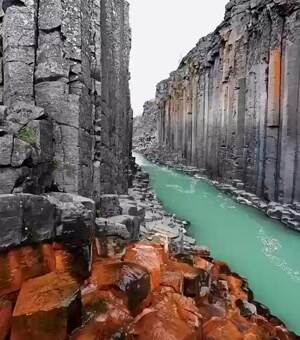 The Basalt Canyon in Iceland