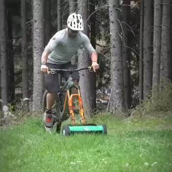 Mowing the lawn with style