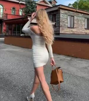 Showing off her dress